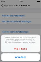 Apple iPhone 4 S iOS 9 - Device maintenance - Terugkeren naar fabrieksinstellingen - Stap 8