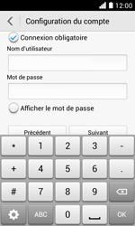 Huawei Ascend Y330 - E-mail - Configuration manuelle - Étape 15
