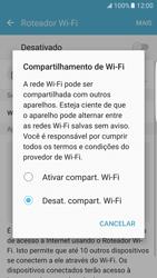 Samsung Galaxy S7 Edge - Wi-Fi - Como usar seu aparelho como um roteador de rede wi-fi - Etapa 6