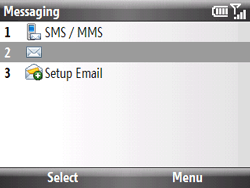 HTC S521 Snap - E-mail - Sending emails - Step 4