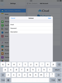 Apple iPad mini 4 - Email - 032c. Email wizard - Outlook - Step 7