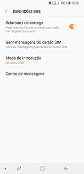 Samsung Galaxy A8 (2018) - SMS - Como configurar o centro de mensagens -  8