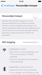 Apple iPhone 5s met iOS 10 (Model A1457) - WiFi - Mobiele hotspot instellen - Stap 4