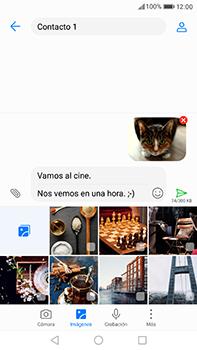 Huawei P10 Plus - Mensajería - Escribir y enviar un mensaje multimedia - Paso 17