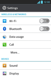 LG E610 Optimus L5 - Internet - Enable or disable - Step 4