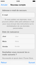 Apple iPhone 5s - Applications - Créer un compte - Étape 15