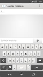 Sony Xpéria T3 - Contact, Appels, SMS/MMS - Envoyer un SMS - Étape 5