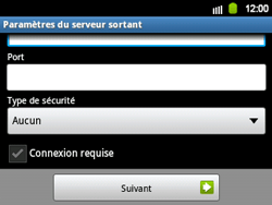 Samsung B5510 Galaxy TXT - E-mail - Configuration manuelle - Étape 11