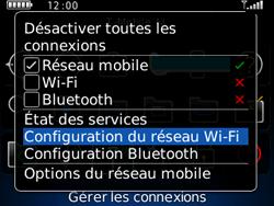BlackBerry 8520 - Internet et connexion - Accéder au réseau Wi-Fi - Étape 4