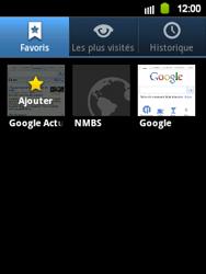 Samsung S5360 Galaxy Y - Internet - Navigation sur Internet - Étape 10