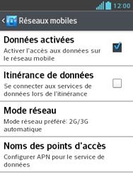 LG E430 Optimus L3 II - Internet - activer ou désactiver - Étape 6