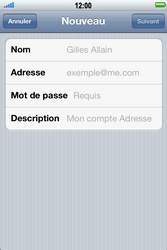 Apple iPhone 4 S - E-mail - Configuration manuelle - Étape 7