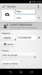 Sony Xpéria E3 - Contact, Appels, SMS/MMS - Ajouter un contact - Étape 11