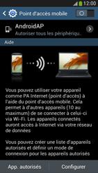 Samsung Galaxy S4 Mini - Internet et connexion - Partager votre connexion en Wi-Fi - Étape 7