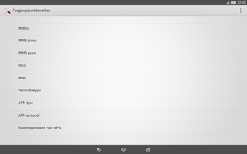 Sony Xperia Tablet Z2 (SGP521) - MMS - handmatig instellen - Stap 14