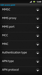 Sony MT27i Xperia Sola - MMS - Manual configuration - Step 12