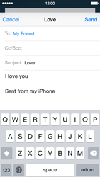 Apple iPhone 5 iOS 8 - E-mail - Sending emails - Step 8