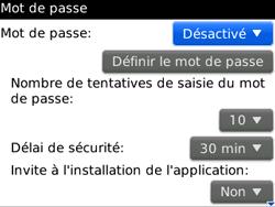 BlackBerry curve 3G - Sécuriser votre mobile - Activer le code de verrouillage - Étape 5