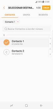 Samsung Galaxy S8 - Mensajería - Escribir y enviar un mensaje multimedia - Paso 7