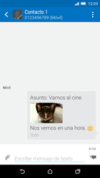 HTC One M9 - Mensajería - Escribir y enviar un mensaje multimedia - Paso 19