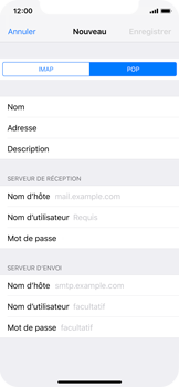 Apple iPhone XS - E-mail - Configuration manuelle - Étape 11