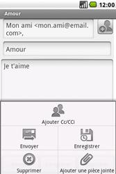 LG GW620 - E-mail - envoyer un e-mail - Étape 8