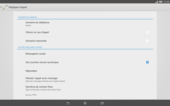 Sony Xperia Tablet Z2 (SGP521) - Messagerie vocale - configuration manuelle - Étape 6