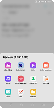 LG Q7 - E-mail - Bericht met attachment versturen - Stap 12