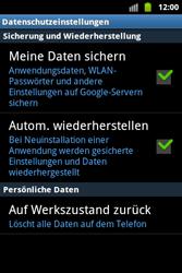 Samsung Galaxy Ace - Basisfunktionen - Hard- und Softreset - Schritt 6