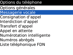 BlackBerry 8520 Curve - Messagerie vocale - Configuration manuelle - Étape 4