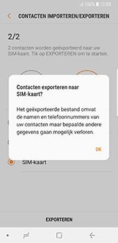 Samsung Galaxy S8 - Android Oreo (SM-G950F) - Contacten en data - Contacten kopiëren van toestel naar SIM - Stap 12