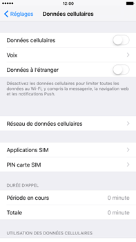 Apple iPhone 6 Plus iOS 9 - Internet - activer ou désactiver - Étape 5