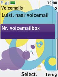 Nokia 7310 supernova - Voicemail - Handmatig instellen - Stap 5