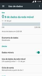 Motorola Moto C Plus - Rede móvel - Como ativar e desativar uma rede de dados - Etapa 5