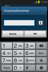 Samsung S6790 Galaxy Fame Lite - Voicemail - Handmatig instellen - Stap 8