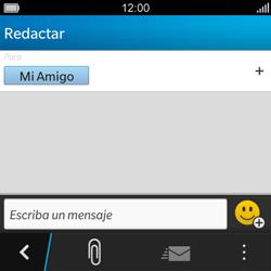 BlackBerry Q5 - Mensajería - Escribir y enviar un mensaje multimedia - Paso 8