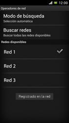 Sony Xperia J - Red - Seleccionar una red - Paso 10