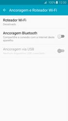 Samsung Galaxy S6 - Wi-Fi - Como usar seu aparelho como um roteador de rede wi-fi - Etapa 5