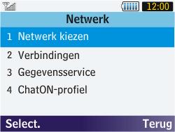 Samsung S3570 Chat 357 - Bellen - in het buitenland - Stap 5
