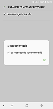 Samsung Galaxy A6 - Messagerie vocale - configuration manuelle - Étape 12