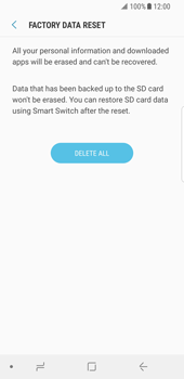 Samsung Galaxy S8 - Android Oreo - Device - Factory reset - Step 9