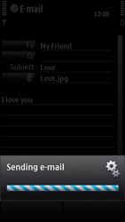 Nokia X6-00 - Email - Sending an email message - Step 14