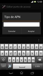 Sony Xperia L - Mensajería - Configurar el equipo para mensajes multimedia - Paso 14