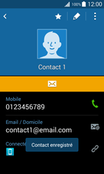 Samsung Galaxy Trend 2 Lite - Contact, Appels, SMS/MMS - Ajouter un contact - Étape 13