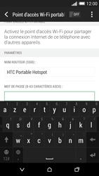 HTC Desire 816 - Internet et connexion - Partager votre connexion en Wi-Fi - Étape 14