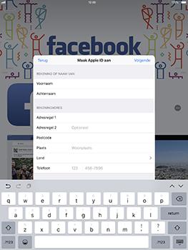 Apple iPad Pro 10.5 inch met iOS 11 (Model A1709) - Applicaties - Account aanmaken - Stap 16