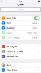 Apple iPhone iOS 9 - Rede móvel - Como ativar e desativar o modo avião no seu aparelho - Etapa 4