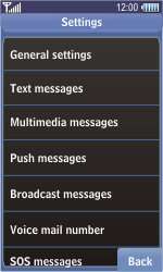 Samsung S8500 Wave - SMS - Manual configuration - Step 6