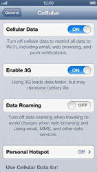 Apple iPhone 5 - Internet - Disable mobile data - Step 5