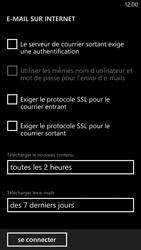 Nokia Lumia 1320 - E-mail - Configuration manuelle - Étape 18
